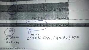 Tabela e parave qe ka marre Nushi