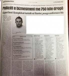 Faks e gazetes Panorama, 17 korrik 2006