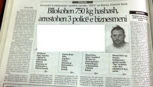Faks e gazetes Shekulli, 17 korrik 2006