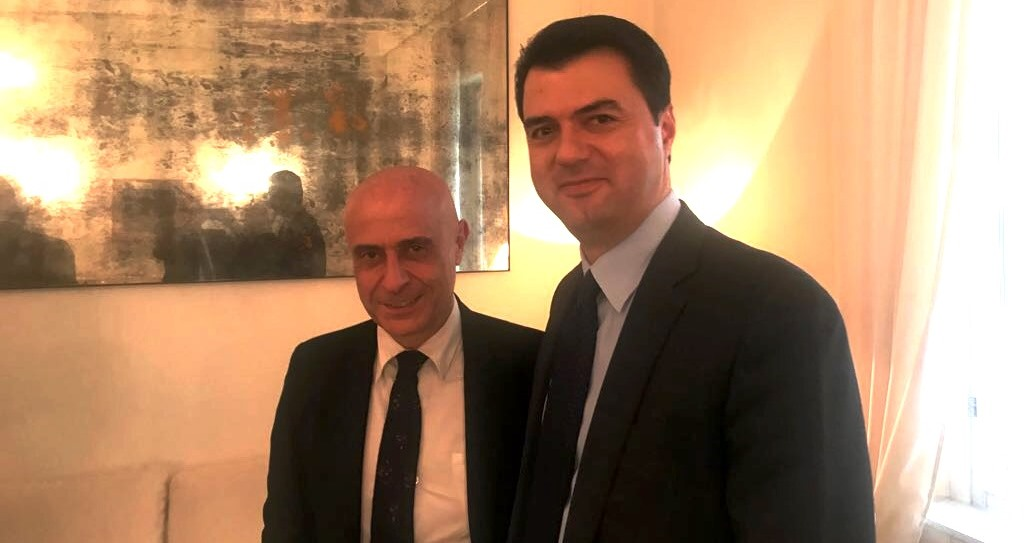 "DP Chairman Basha meets Italian Minister of Interior Minniti: ""Critical situation in Albania regarding drug trafficking and organized crime."""