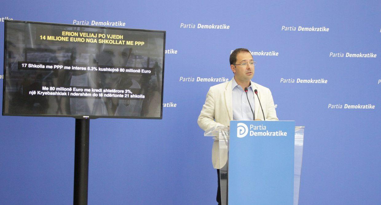 Erion Veliaj vjedh 14 milionë euro me projektin e shkollave me PPP. Përfituesi i parë është ndërtuesi i shtëpisë së tij tek Kodra e Diellit