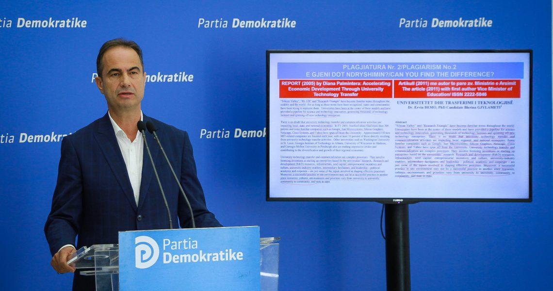 Blerina Gjylameti dhe zëvendësministri i Arsimit Ervin Demo, vjedhin punimin shkencor, ministria hesht!