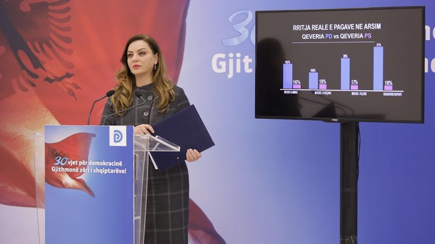 """""""Rama me qeverinë më të keqe që ka patur Shqipëria"""", PD: Dështimi me arsimin, i mashtroi mësuesit për rritjen e pagave."""
