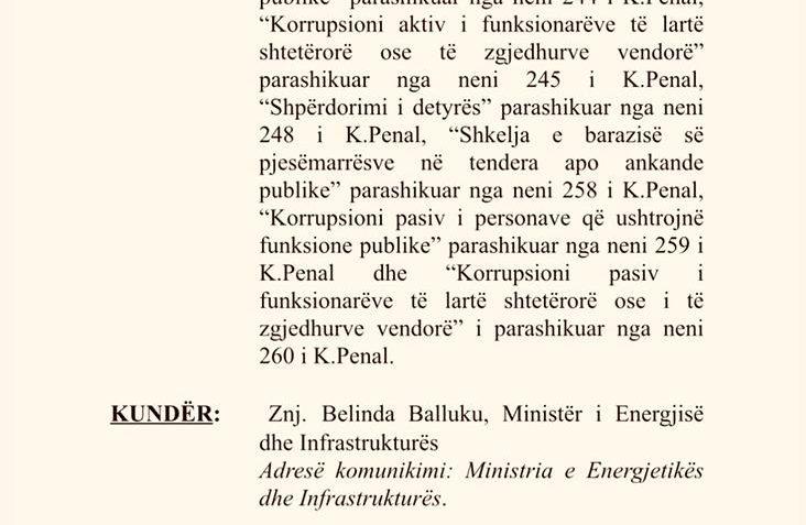 PD padit në SPAK Belinda Ballukun. Aferë korruptive 30 milionë euro në Portin e Durrësit.