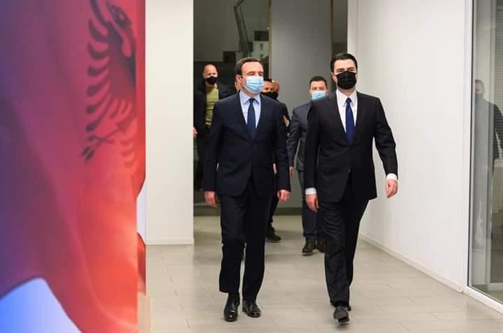 Basha pret kreun e VV, Albin Kurti: E garantova se nesër si kryeministër i Shqipërisë do të bëj gjithçka për të rritur dhe forcuar bashkëpunimin me Kosovën